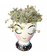 Better-way Ceramic Face Floral Vase Modern Decorative Nordic Planter Tab... - $18.73