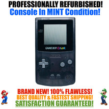 *NEW GLASS SCREEN* Nintendo Game Boy Color GBC Custom Black System MINT NEW - $51.92