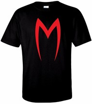 "YOUTH Red ""M"" Speed Racer T Shirt 100% Cotton Tee by BMF Apparel - $16.50"