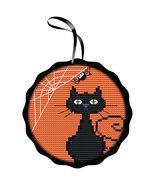 Spooky Black Cat Kit halloween cross stitch kit Colonial Needle  - $16.20