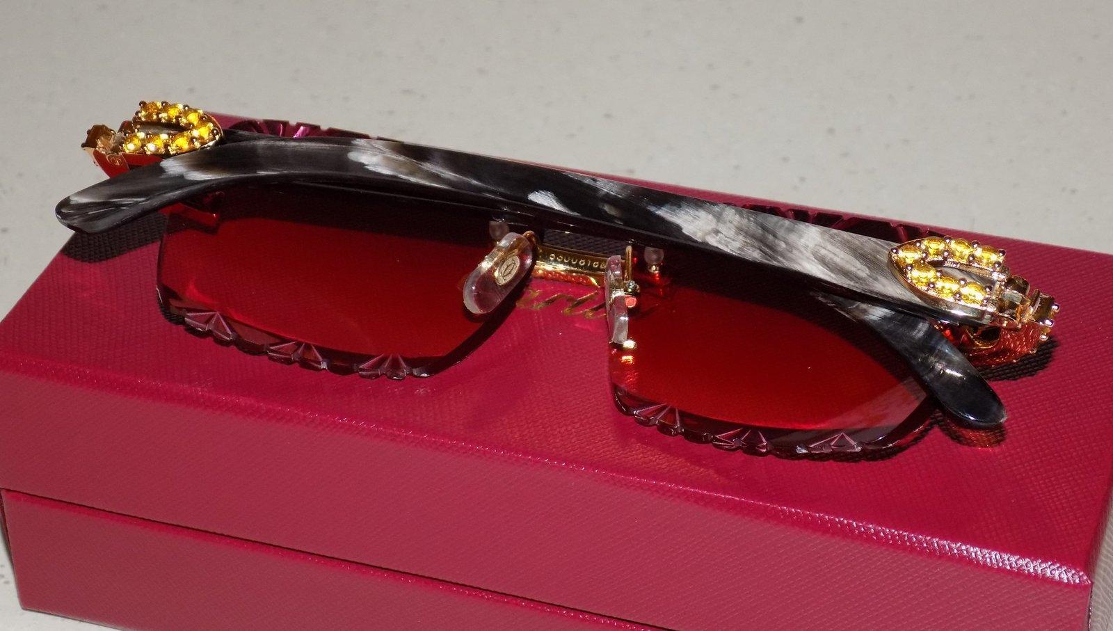 ce80e5c98300 Cartier Smooth Acrylic LIMITED 2019 Horn Buffalo C Décor Sunglasses