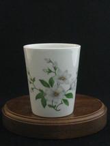 White Flowers Fine Porcelain Vintage Limoges Cup - $11.30