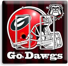 Georgia Bulldogs University Football Team Go Dawgs 2 Gfi Light Switch Wall Plate - $11.69
