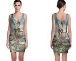 Gorillaz on boat women s sleevless bodycon dress thumb155 crop