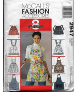McCall's 2947, Aprons 8 Easy Styles Tissue Paper Sewing Pattern, Bibs Wa... - $6.00