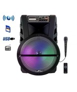 beFree Sound 15 Inch Bluetooth Portable Rechargeable Party Speaker with ... - $139.79
