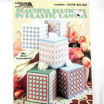 Beautiful Boutiques Plastic Canvas Leaflet Tissue Boxes 5 Projects Book 1579 - $9.89