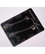 Sterling and Crystal Post Dangle Earrings, Drop Earrings, Swarovski Crys... - $24.95