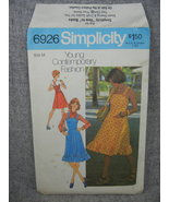 Dress or Jumper  in 2 lengths Flared Skirt Straps  Simplicity 6926  UC FF - $12.00