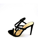Imagine Womans Strappy High Heels Black Sparkle Ankle Strap Cushion Sz 6... - $49.49