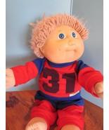 "Cabbage Patch Kids 15"", Xavier Roberts baby doll lt brown yarn hair blue... - $22.28"