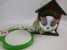 "Best Cat 2010 American Greetings Cards Co 2.75"" Christmas Ornament + paw... - $6.92"