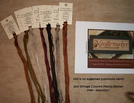 "FABRIC CUT 10""x20"" 32ct Vintage Country Mocha belfast linen Needleworker... - $12.00"