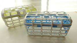 2 Munchkin Deluxe Dishwasher Basket Utensil Bin Straw Cleaning Rack Baby Bottles - $14.24