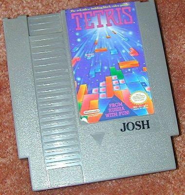 TETRIS THE Original NES game+FREE SIGNED TRADING CARD