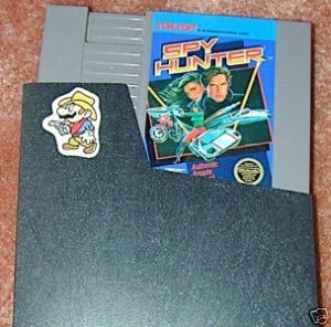 SPY HUNTER original NES game+FREE SIGNED TRADING CARD!