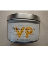 New Trader Joe's Vanilla Pumpkin Scented Candle 5.5 oz Lead Free Cotton ... - $13.85