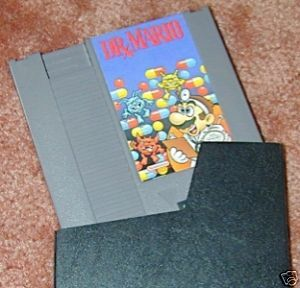 DR. MARIO Vintage NES game+FREE SIGNED Trading CARD!