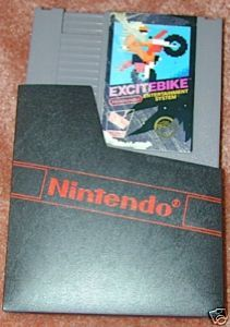EXCITEBIKE Vintage NES game+FREE SIGNED Trading CARD!