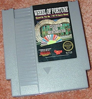 WHEEL of FORTUNE Org NES game+FREE SIGNED TRADING CARD