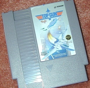 TOP GUN original NES game+FREE SIGNED TRADING CARD