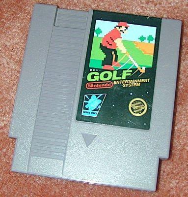 NINTENDO GOLF Vintage NES game+FREE SIGNED Trading CARD