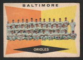 1960 Topps Baseball  #494 - Baltimore Orioles Team Card, Checklist - $17.81