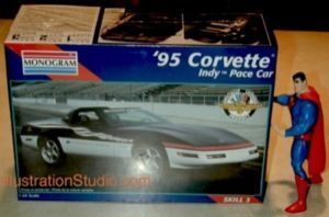 Monogram 1995 Chevy Corvette 1/24 Indy Pace Car OOP