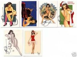 Steve Woron's BETTIE PAGE 5 Card Subset #1 *SIGNED* WOW - $7.95