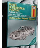 Buick Oldsmobile Pontiac FULL-SIZES 85-93 repair manual - $12.86