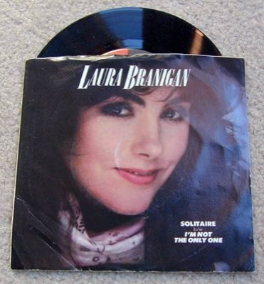 Laura Branigan Solitaire/Im Not the Only 1~45 RPM~Vinyl