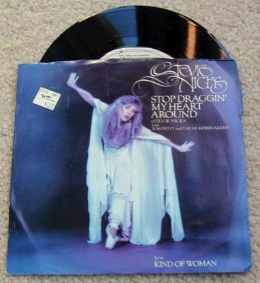 Stevie Nicks STOP DRAGGIN My HEART AROUND 45 RPM~Vinyl