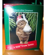 Hallmark Hancrafted Keepsake Ornament- A Kiss From Santa- Hershey Kisses - $4.94