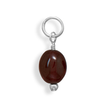 74117 jan oval garnet charm   january birthstone thumb200