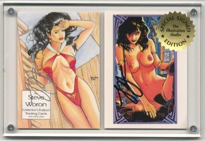 SIGNED Steve Woron NUDE VAMPI more 2 cards in screwdown