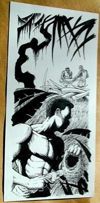 Steve Jackson Games Original ART #7 Ivory Poachers