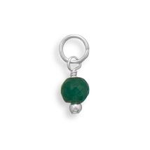 May Birthstone Round Emerald Bead Charm - €14,31 EUR