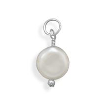 June Birthstone Coin Pearl Charm - $16.99