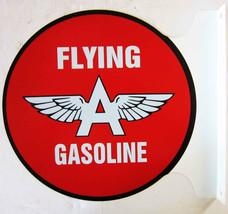 """Flying A Gasoline Flange Sign 12"""" Diameter - $60.00"""