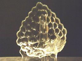 Concord Grape triangular Glass Candy Dish AA19-LD11934 Vintage image 6