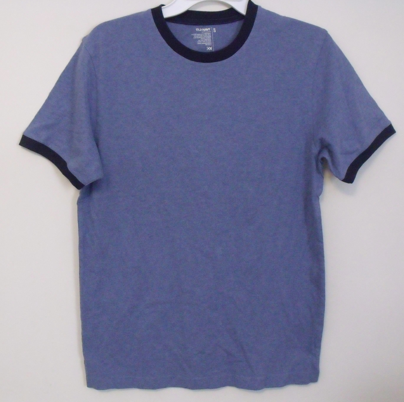Mens old navy blue t shirt front