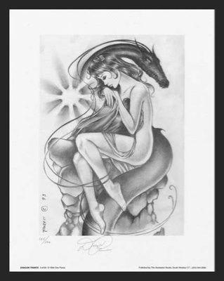 Paresi's #3 of 7 DRAGON TRANCE PinUp Art SN'd 2for1~BIN