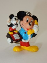 Disney Applause Mickey Mouse Figure on Mickey Phone Keychain - $6.64