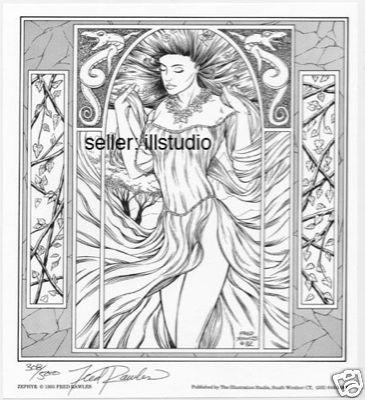 ZEPHYR~1993 Fantasy Art SIGNED Print by Fred Rawles WOW