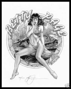Steve Woron Betty Page:Jungle Queen #7 of 8 SN'd PinUp