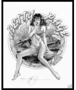 Steve Woron Betty Page:Jungle Queen #7 of 8 SN'd PinUp - $7.49