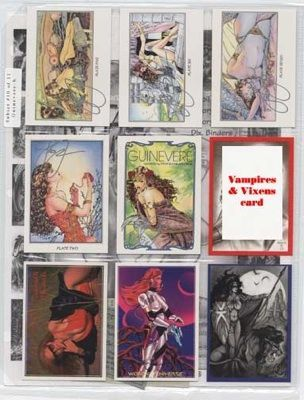 GUINEVERE Subset 10 of 11 Cards SIGNED by Steve Woron~!