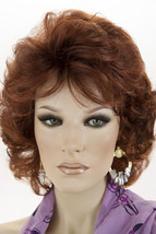 Med Natural Red Brown Med Red Blend Red Tips Medium Monofilament Jon Renau Wigs - $228.89