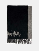 NWT Coach 4622 Horse And Carriage Double Face Oversized Muffler in Black... - $149.00
