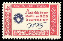 1960 4c Francis Scott Key, In God is Our Trust Scott 1142 Mint F/VF NH - $0.99